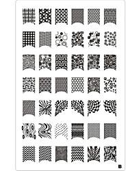 42 Pattern Nail Art Stamp штамповка плиты изображения шаблона