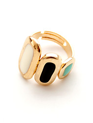 Ring Crystal Daily Casual Jewelry Alloy Women Ring Statement Rings 1pc,One Size Yellow Gold