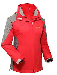 Жен. Куртки 3-в-1 Водонепроницаемость Сохраняет тепло Быстровысыхающий С защитой от ветра Ультрафиолетовая устойчивость Защита от