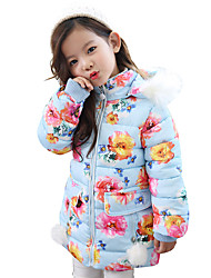 Girls Fashionable  Spring/Fall Long The Waist Yarn Splicing Cotton-Padded Clothes