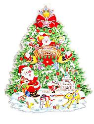 Рождественский декор Товары для Рождественской вечеринки Товары для отпуска 2Pcs Рождество Бумага Радужный