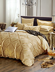 Bedtoppings Cotton Rich Jacquard Embossed 4pcs Duvet Cover Set Queen