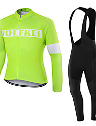 WOLFKEI Spring/Summer/Autumn Long Sleeve Cycling JerseyLong Bib Tights Ropa Ciclismo Cycling Clothing Suits #WK53