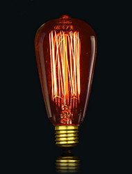 ST64 13 ak lâmpada incandescente de 40W lâmpadas de seda antigo edison luz