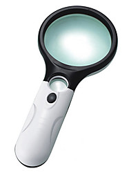 Magnifiers/Magnifier Glasses Reading Handheld 3 Magnification (Large Lens), 45 Magnification (Small Lens) 75mm Normal Plastic