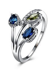 Кольца на вторую фалангу Кольцо Цирконий Циркон Медь Титановая сталь Имитация Алмазный Синий Бижутерия Повседневные 1шт
