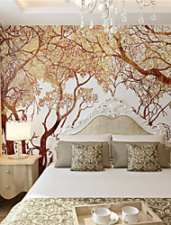 JAMMORY 3D Wallpaper For Home Contemporary Wall Covering Canvas Material Golden TreeXL XXL XXXL