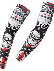 XINTOWN Men's and Women's Skulls Bicycle Cycling Bike Arm Warmers UV-Protection Sleeves Cycling Accessories Bicycle Arm Sleeves Sporting Sleeves