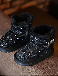 Girl's Boots Comfort Cowhide Casual Black Yellow