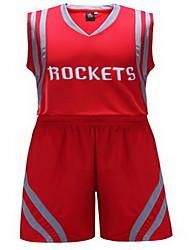 Толстовка Верхняя часть(Белый Красный) -Муж.-Баскетбол Бег-Короткие рукава