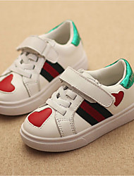 Girl's Sneakers Spring Fall Comfort PU Casual Flat Heel White