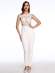 Women's  Mesh Lace Applique Jumpsuit