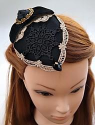 Women's Lace Rhinestone Fabric Headpiece-Wedding Special Occasion Fascinators Hats Hair Clip 1 Piece