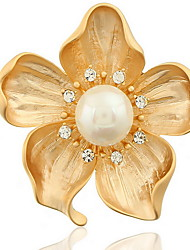 Fashion Woman Alloy Flower Brooch