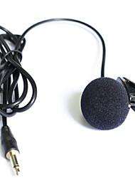 "Top-Qualität Nieren Revers Krawatte Clip-on-Lavalier-Kondensatormikrofon 1/8 ""(3,5 mm) Stecker"