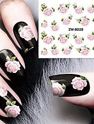 Fashion Printing Pattern Flower Transfer Printing Nail Stickers
