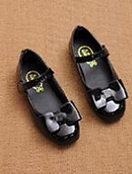 Girl's Flats Comfort PU Casual Black Red White