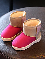 Girl's Boots Winter Comfort Leatherette Casual Flat Heel Brown Pink Fuchsia