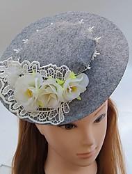 Women's Lace Fabric Headpiece-Wedding Special Occasion Fascinators Hats 1 Piece