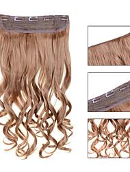 24inch 60cm 120g Farbe 27 # Clip innen auf Haarverlängerung wellenförmigen Clip auf Haarteile