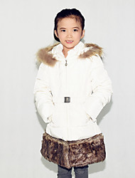 Girl Casual/Daily Solid Jacket & Coat,Polyester Winter Long Sleeve
