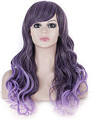 24Long Curly Women purple Hair wig Black Friday Discount Christmas Festival Wigs