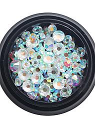 1Box 2/3/4/5mm  Rhinestones Nail Art Glitter AB Color 3d Nail Jewelry Sharp-Bottomed Micro Crystal Nail Decorations