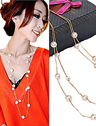 Women's Strands Necklaces Pearl Necklace Pearl Imitation Pearl Fashion Golden Jewelry Party Daily Casual 1pc