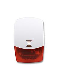 mib alta qualidade do sistema de alarme de segurança luz vermelha piscando interior sirene sem fio ios de apoio IS01&controle app