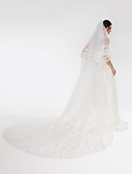 Wedding Veil Two-tier Cathedral Veils Tulle