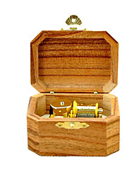 Music Box Castle in the Sky Sweet / Special / Creative Wood Brown / Golden For Boys / For Girls