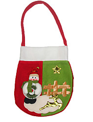 Christmas Decorations Gift Bags Holiday Supplies 2 Christmas Textile Red