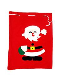 Товары для Рождественской вечеринки Подарочные мешки Товары для отпуска 1Pcs Рождество Текстиль Серебристый