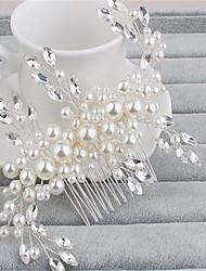 Women's Rhinestone Imitation Pearl Headpiece-Wedding Special Occasion Hair Combs 1 Piece