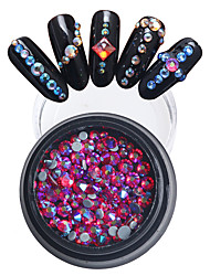 2/3/4mm Mini Colorful Rhinestone Round Flat Acrylic UV Gel Nail Art Decoration Hot