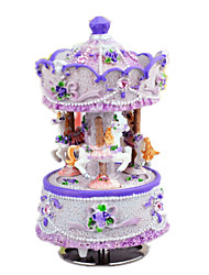 Music Box Castle in the Sky Classic & Timeless Wood Blue / Purple / Ivory For Boys / For Girls