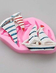 Sailing Boat Fondant Cake Molds Chocolate Mould For The Kitchen Baking Silicone Sugar Decoration