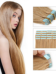 Brazilian Remy Human Hair Tape Hair Extensions Strong Glue Lace Tape Hair 20pcs/pack for Fashions Women Human Virgin Hair