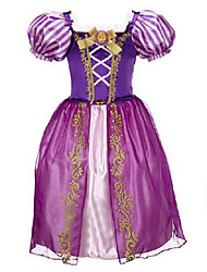 Cosplay Costumes / Party Costume / Masquerade Princess / Fairytale / Cosplay Movie Cosplay Light Purple / Purple / Yellow / Blue Solid