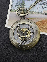 Fashion Jewelry The Hunger Game Retro Necklace Pocket Watch Russia Hunger Games Pocket Watch Bronze Vintage Cool Bird Cool Watches Unique Watches