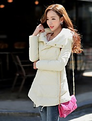 DABUWAWA Women's Long Down CoatSimple / Street chic / Sophisticated Going out / Casual/Daily / Holiday Solid-Long