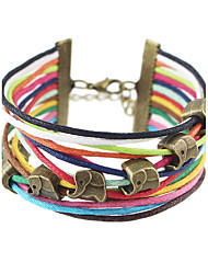 New Boho Style Bracelets Colorful Multi Layer Chain with Music Note Decoration Wristband Decoration Wrap Bracelets