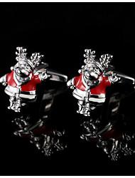 Weihnachten Männer Geschenke Weihnachtsmann cufflinksfrench Hemd Manschettenknöpfe Stulpeknöpfe vorhanden Schmuck mit Geschenk-Box