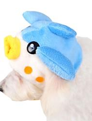 Cat / Dog Bandanas & Hats Blue Dog Clothes Winter / Spring/Fall Cartoon Cute