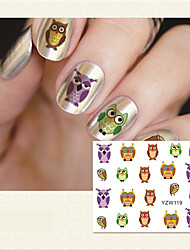 1 Sheet DIY Decals Nails Art Water Transfer Printing Stickers Accessories For Manicure Salon
