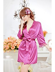 Women'S Satin Lace Black Kimono Intimate Sleepwear Robe Sexy Night Gown Pajamas For Women 2016 New Sexy lingerie