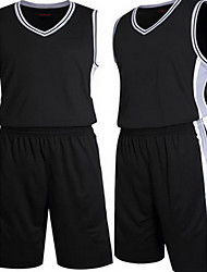 Shirt Hauts/Tops(Blanc Noir) -Basket-ball Course/Running-Manches courtes-Homme