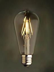 Amber 6W Edison Style 2200K ST64 Ceramic Led Filament Bulb E27