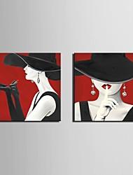 Отпечатки на холсте Наборы холстов Люди фантазия Классика,2 панели Горизонтальная Печать Искусство Декор стены For Украшение дома