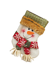 Christmas Toys / Gift Bags Holiday Supplies Santa Suits / Snowman Textile White / Beige All